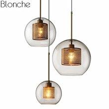Lámpara colgante moderna de cristal Led lámpara colgante nórdica sala de estar Loft decoración Industrial cocina accesorio de iluminación suspensión luminaria