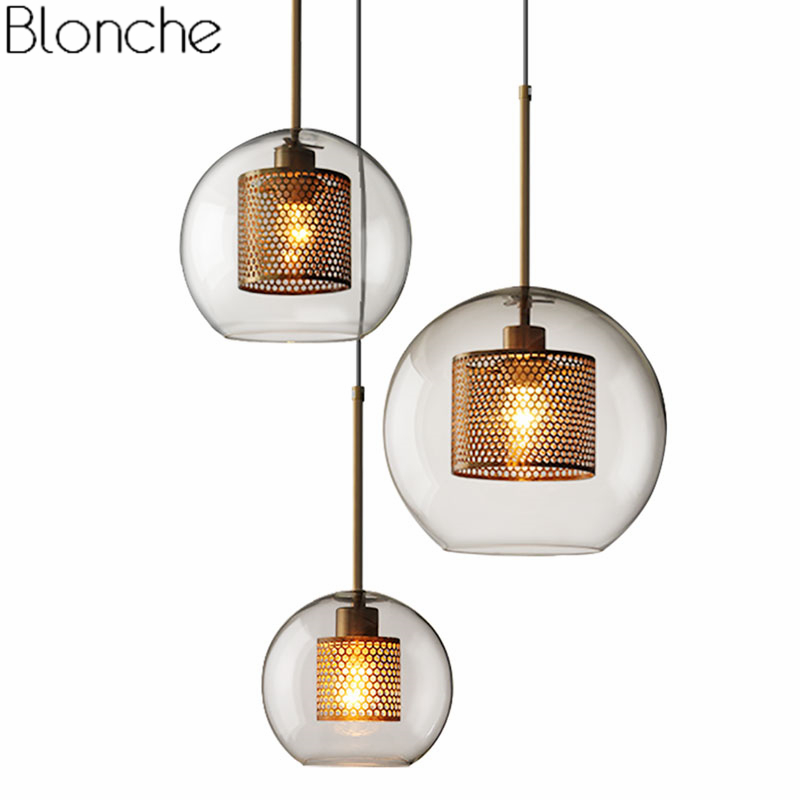 Modern Glass Led Pendant Lights Nordic Hanging Lamp Living Room Loft Industrial Decor Kitchen Light Fixture Suspension Luminaire