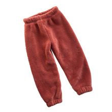 hot deal buy kids winter warm sports pants baby boy girl pants newborn baby trousers plus thick velvet cashmere long pants children legging