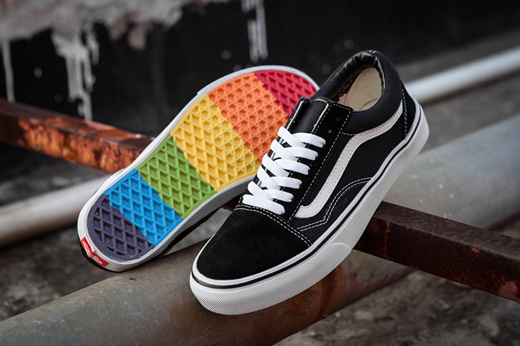 Skateboarding-Shoes VANS Rainbow Classic Off-The-Wall Hot-Sales Old-Skool Men/women 36-44