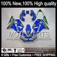 Bodys Movistar azul Para HONDA CBR400RR 87-89 CBR400 RR K572 azul verde CBR 400RR 87 88 89 1987 1988 1989 NC23 carenado