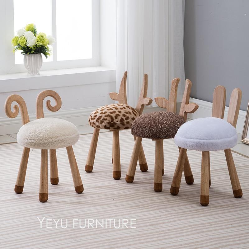 Modern Design Solid Wooden animal design Kids Baby Chair ...