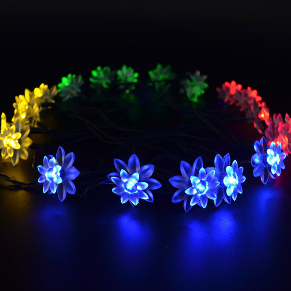 5M 20 LED Solar Fairy String Light Flower Led Party Wedding Decorative Flexible Lights Indoor Outdoor Lighting Lamps 5 Colors