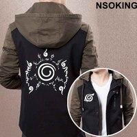 Новый Демисезонный Наруто балахон Аниме Наруто Узумаки крутое пальто Для мужчин куртка на молнии