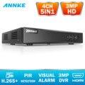 ANNKE 4CH 3MP 5в1 HD TVI CVI AHD IP безопасности DVR рекордер H.265 цифровой видео рекордер с интеллектуальным обнаружением движения воспроизведения