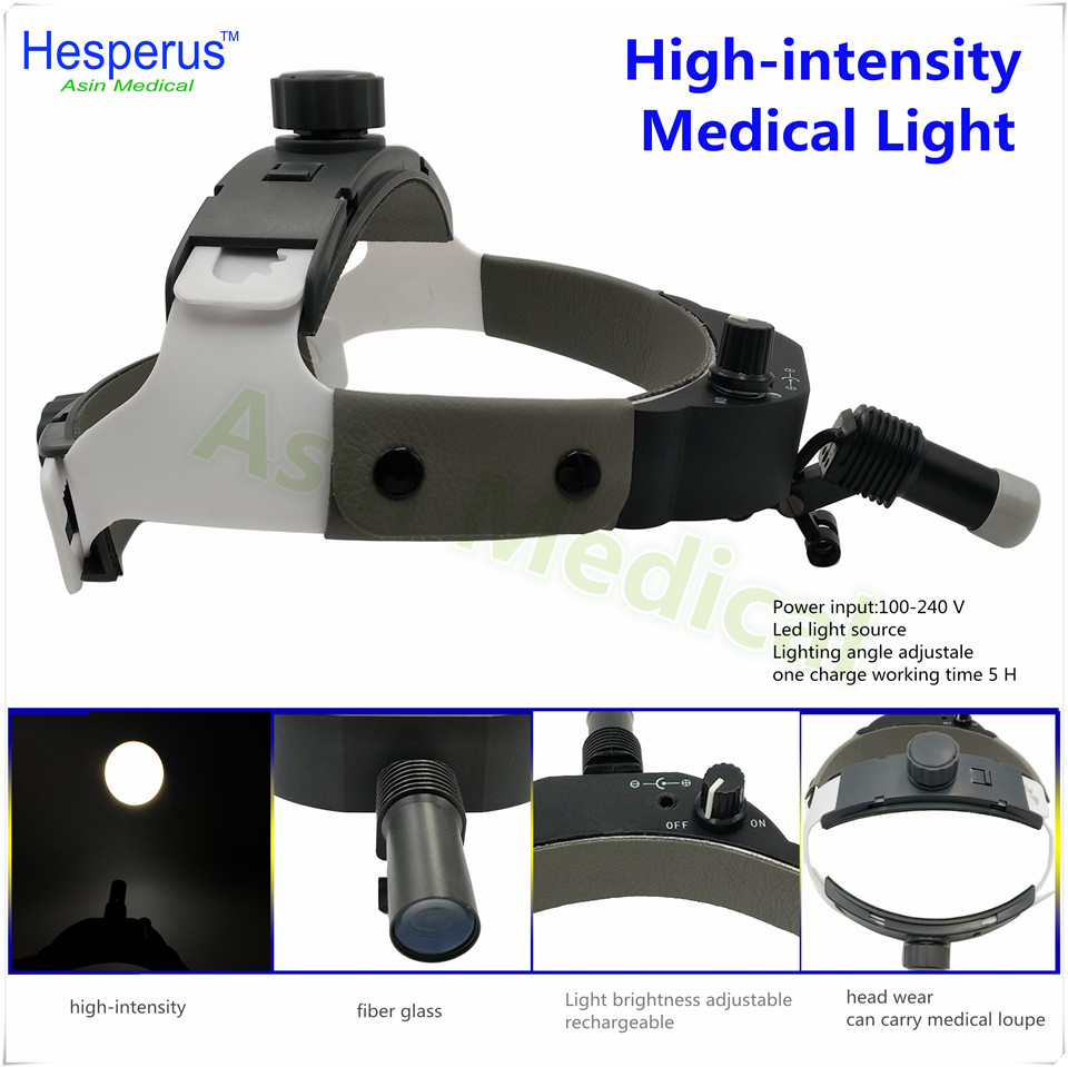 DEASIN 2018 brightness Adjustable Dental Surgical Headlight LED Headlamp Black Medical Lab Equipments 2018 good quality adjustable dental surgical headlight led headlamp black medical lab equipments