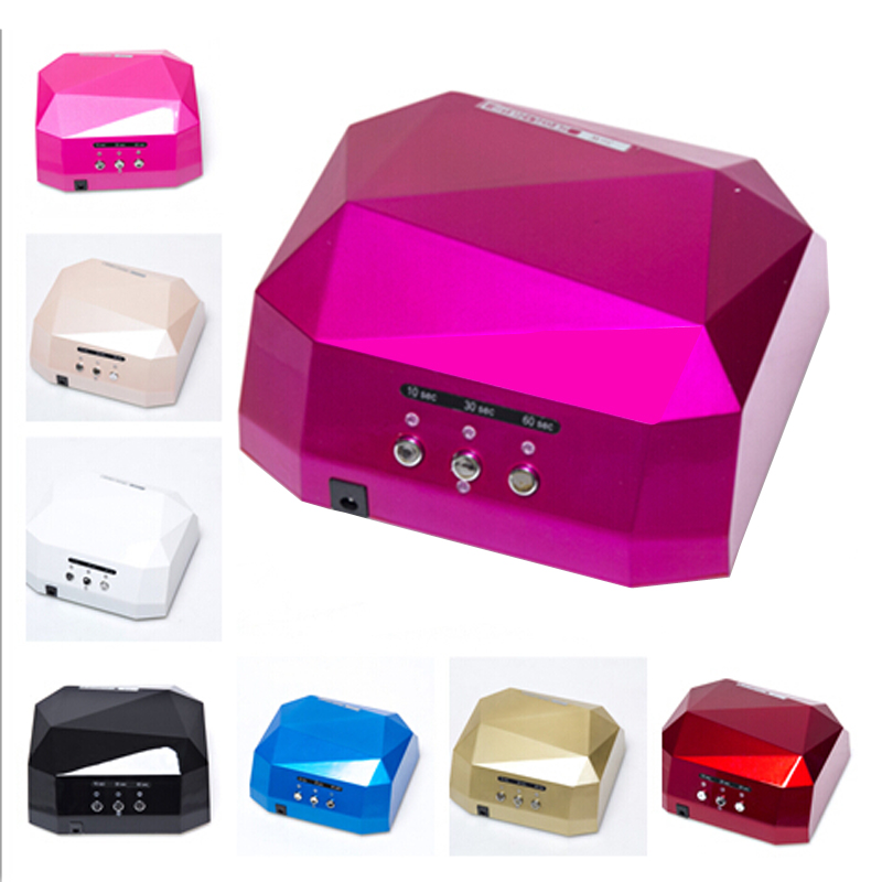 HOLLKY 36W UV colloid curing lamp 6 Color Diamond Shaped LED UV Lamp Nail Lamp Curing for UV LED Gel Nails HOT SALES 10pcs 10w 7070 uv 395nm 365nm led curing lamp 2 parallel 2 series 6 3 6 5v 1500ma led emitter light for curing ink 3d printer