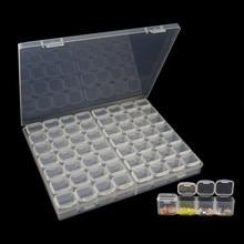 56 Grids DIY Diamond Painting Rhinestone Transparent Plastic Storage Box Embroidery Beads Cross Stitch Cases Organizer