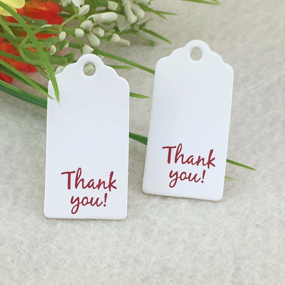 100pcs 4*2cm Thank you Labels/Hang Tag DIY Handmade Gift Tags ...