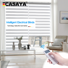 Zebra-Blinds Motor Electric-Roller Lithium-Battery Casaya Rechargeable Automatic Custom-Size