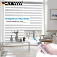 Casaya Automatic motorized zebra Blinds Custom Size Dooya motor Rechargeable Lithium Battery Electric roller blinds
