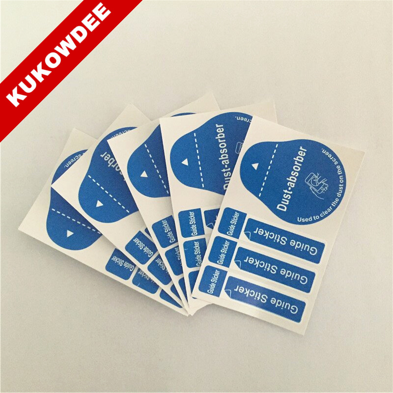 Dust-Removal Guide-Sticker Cleaning-Tool Screen Clear Dust-Absorber All-Phones Blue 4-In-1