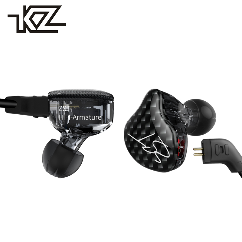 KZ ZST Wired Earpiece In Ear In-ear Earphone For Phone iPhone Headphone With Microphone Headset Earbud Auricular Hifi Kulakl k kz headset storage box suitable for original headphones as gift to the customer