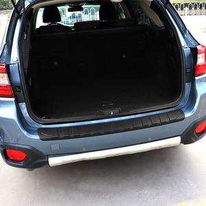 Image 3 - QHCP Resina Tronco Tagliare Lamiera di Protezione Paraurti Posteriore Protector Coda Strisce di Copertura Per Subaru Forester XV Outback 2013 2019 car Styling