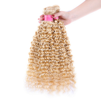 1/3/4 Pcs 613 Honey Blonde Hair Bundles Malaysian Deep Wave Human Hair Extensions 8 26 inch Remy Hair Weave Weft Free Ship