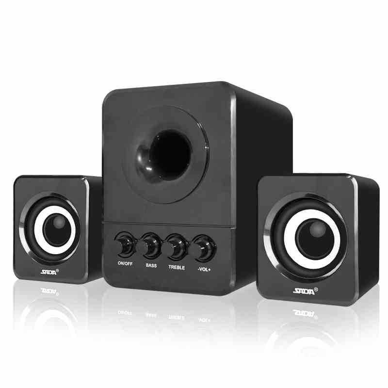 SADA D-203 2.1 3-Kanal-Computer-Lautsprecher Mini verdrahtete Kombination Spalte Bass Lautsprecher tragbar für mp3 Handy PC