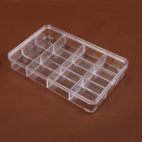 Clear Plastic Jewellery Beads Box 12 Compartment Storage Box Retail Shop Jewelry Display Case