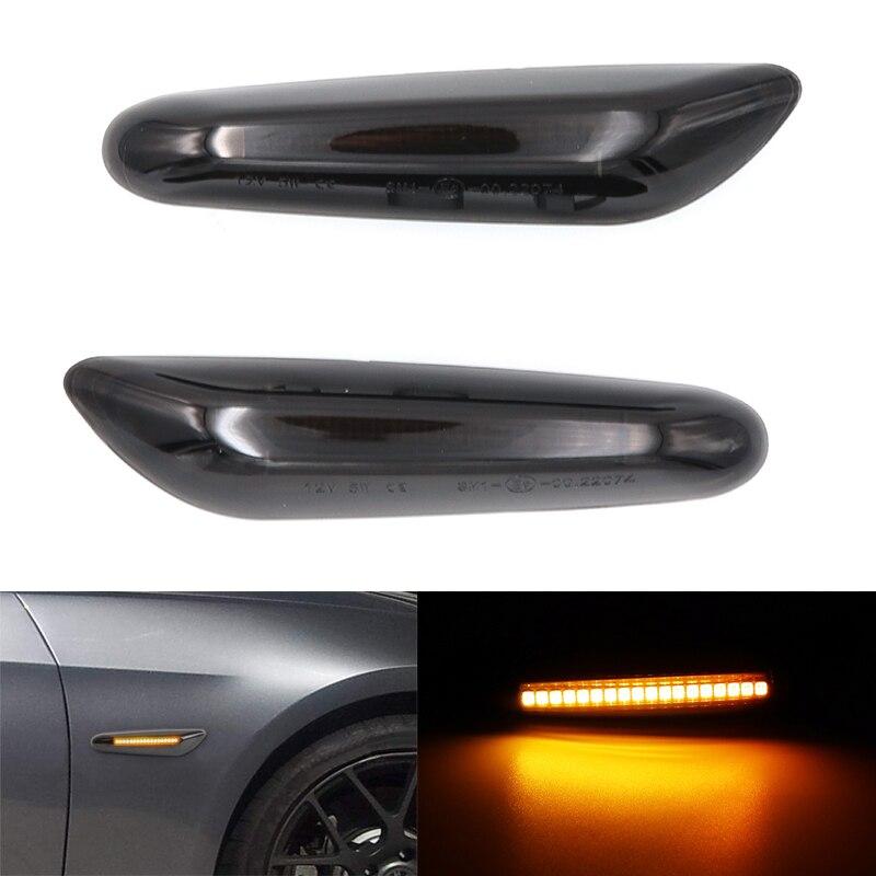 BMW 1 SERIES E81 E82 E87 E88 LED SMOKED BLACK CRYSTAL SIDE REPEATERS INDICATORS