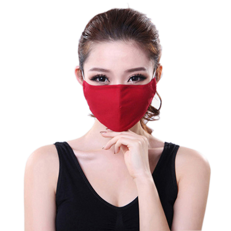 * Tcare Fashion Cotton PM2.5 Anti haze smog mouth Dust Mask + * Activated carbon filter paper * bacteria proof Flu Face Mask 12