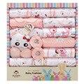 La primavera y el verano recién nacido ropa interior de bebé suministros caja de regalo del bebé productos para bebés bebé recién nacido set 18 unids