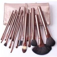 Professional 18Pcs Makeup Brush Set Animal Goat Horse Hair Eyeshadow Eyebrow Cosmetics Make Up Brushes With