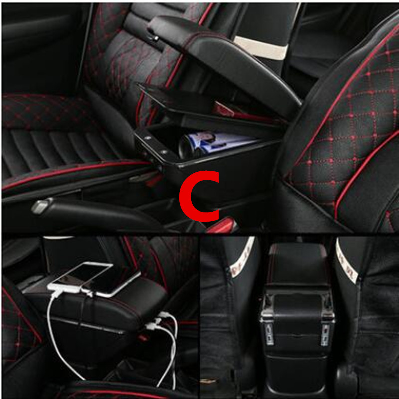 best loved e598a f4e5b US $27.66 45% OFF|Centre Console Storage Box For Suzuki Swift 2005 2019  Armrest Arm Rest Rotatable Car accessories-in Armrests from Automobiles &  ...