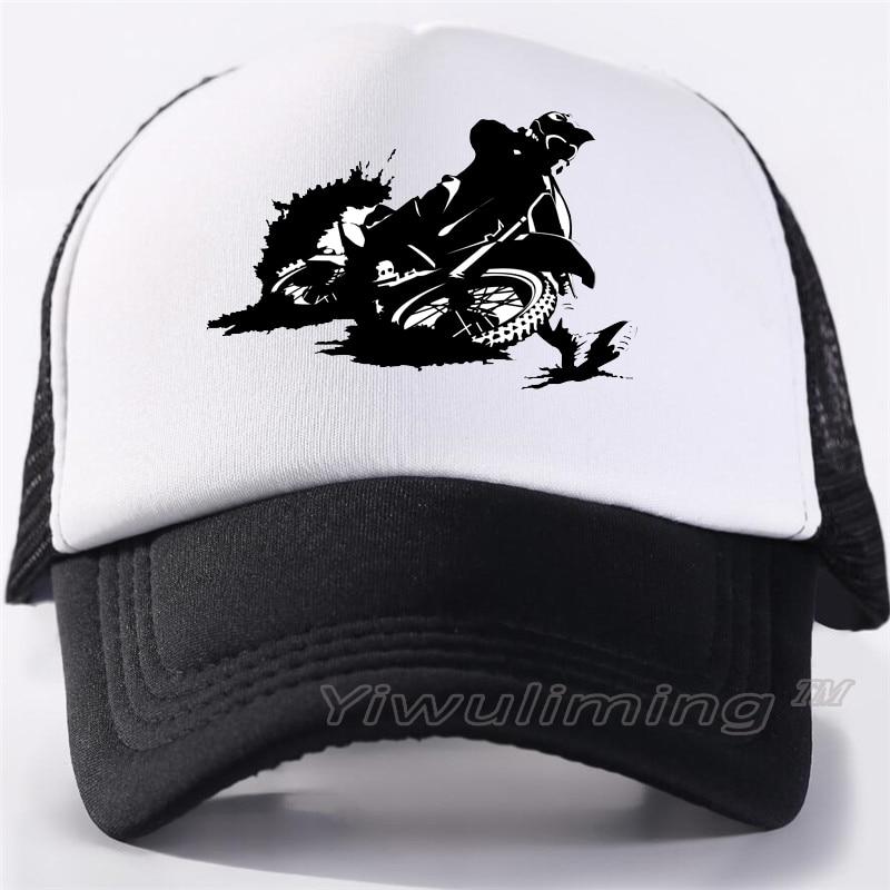 New Summer Trucker   Caps   motocross Cool Summer Black Adult Cool   Baseball   Mesh Net Trucker   Caps   Hat for Men Adjustable
