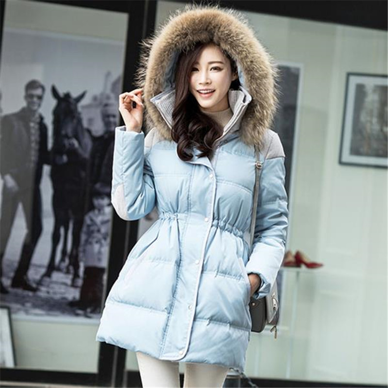 2016 New Fashion Winter Women Coat Lady Fur Collar Hooded Overcoat Long Slim Thick Jacket Female Plus Size Outwear ZS259