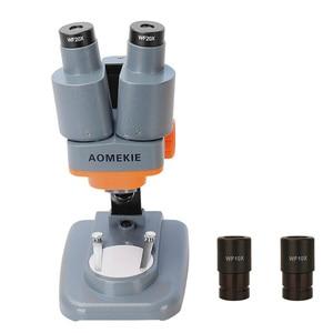Image 2 - AOMEKIE Binocular Stereo Microscope 20X/40X Above LED Lights PCB Solder Tool Mobile Phone Repair Mineral Watching Microscopio