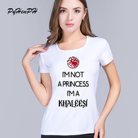 PyHen New Arrival Fashion Women Mother Of Dragons T Shirt Women Short Sleeve Round Neck Game