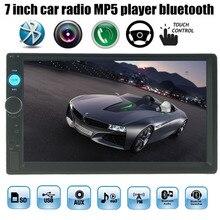 4 idiomas 7 Pulgadas 2 DIN Radio Del Coche de HD MP5 MP4 reproductor de Pantalla Táctil de Bluetooth de la Cámara de Visión Trasera Coche Estéreo FM/TF/USB/Auxin
