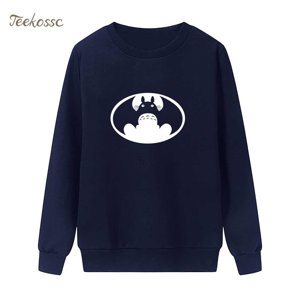 My Neighbor Totoro Batman Sweatshirt Super Hero Hoodie 2018 Winter Autumn Women Lasdies Pullover Fleece Loose Cartoon Streetwear