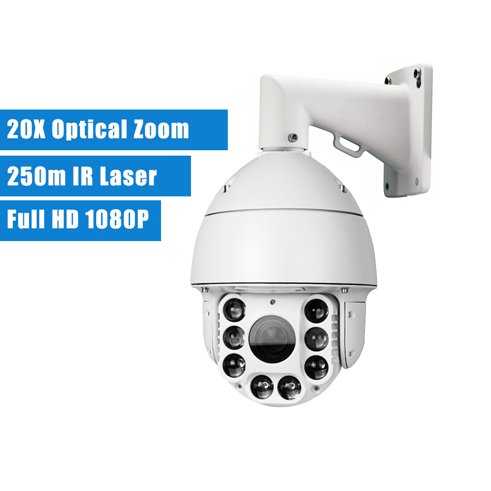 2.0MP 1080P IP PTZ PoE high speed dome 20X Zoom Outdoor 250m IR Laser P2P Network IP Onvif Security cctv surveillance Camera 4 in 1 ir high speed dome camera ahd tvi cvi cvbs 1080p output ir night vision 150m ptz dome camera with wiper
