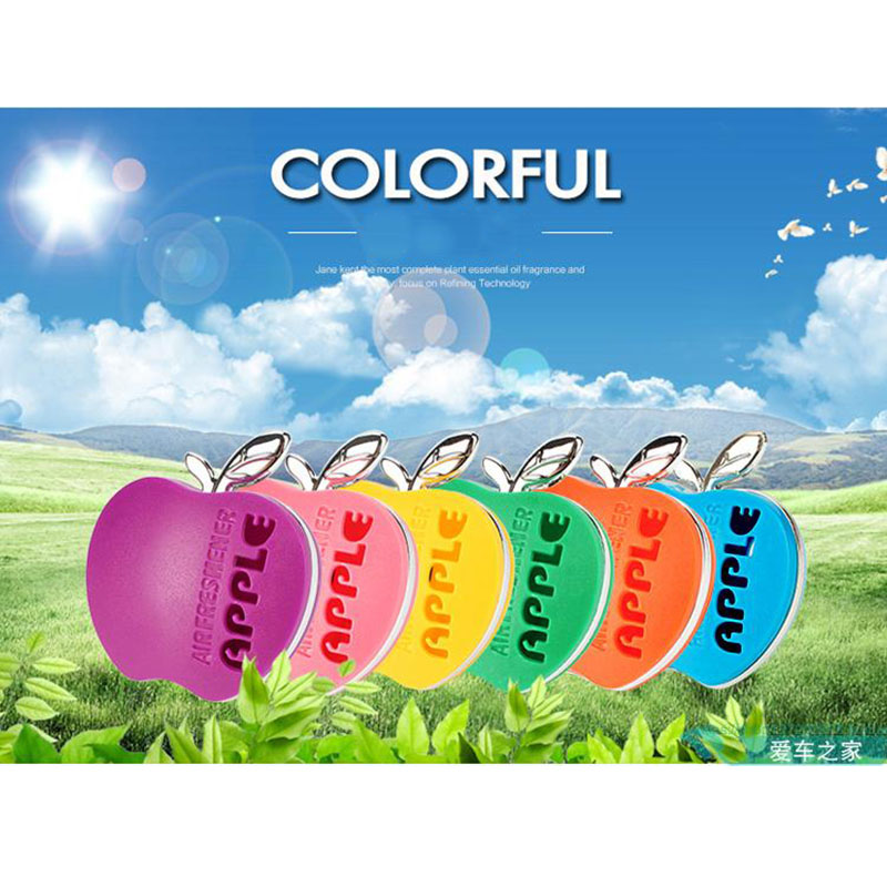 Parfum car-styling Flavor In The Car Perfume 100 Original Apple Shape Car Air Freshener For VW Ford Kia Renault 1pcs