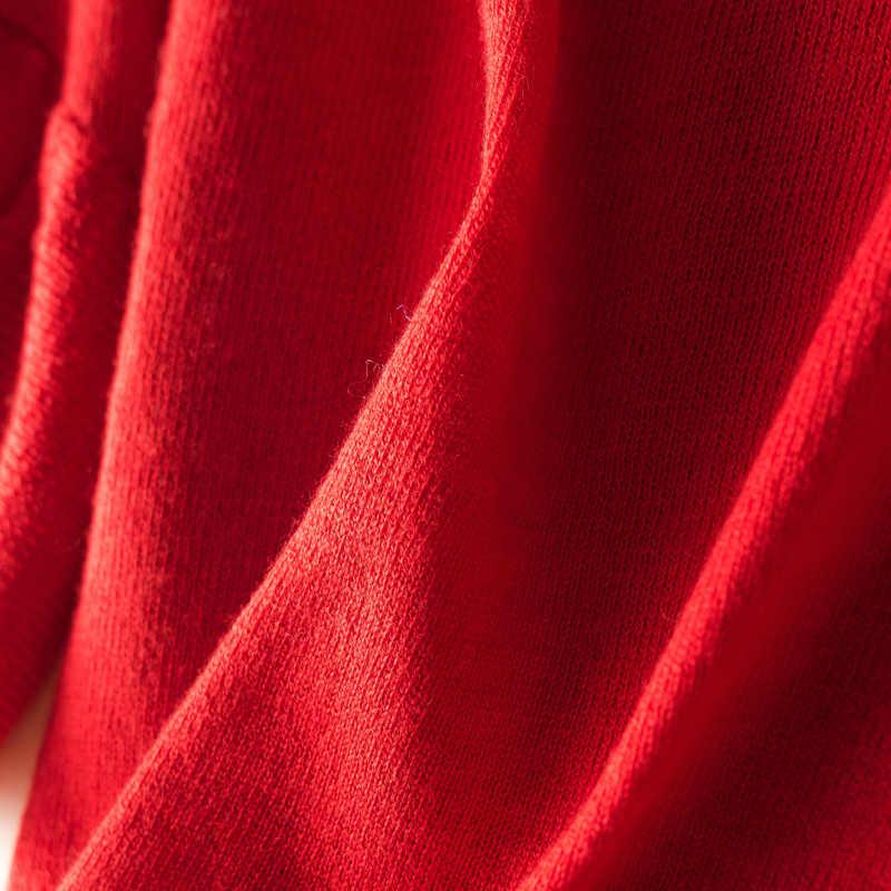 Zocpt 2018 осень зима новый круглый вырез женский кашемировый пуловер Шерсть вязанный короткий рукав мягкий сохраняющий тепло свитер бабочка рукав
