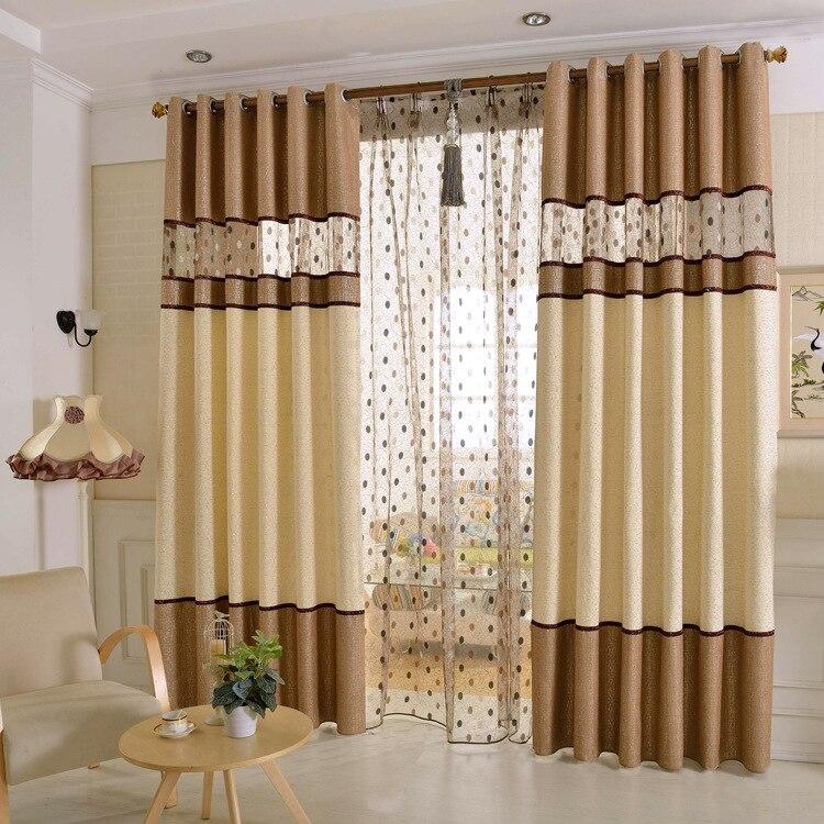 2017 cortinas nuevas para comedor sala de estar chenilla costura ...