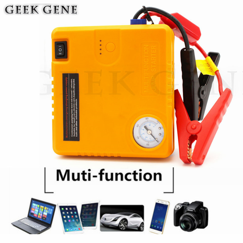 2018 Multifunction Car Jump Starter Portable Car Battery Charger Starting Booster Power Bank 12V Auto Diesel Petrol Car pump 2017 high capacity car jump starter portable car battery charger starting booster 12v auto best quality power bank 14000mah