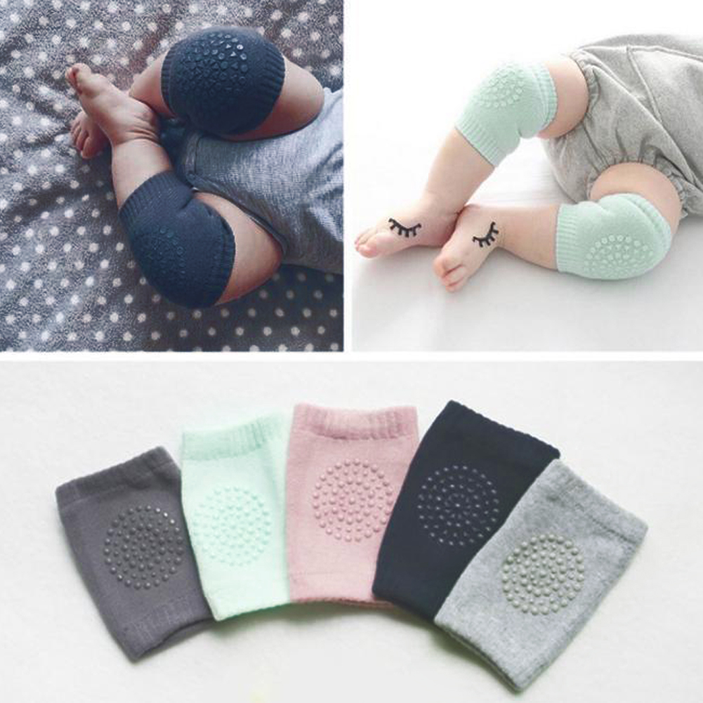 1 Pair Pink Knees Protector Pads Baby Crawling Protectors Pads Cotton Soft Leg Safe Protector Anti Slip Crawling Used Accessory