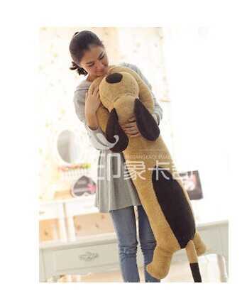stuffed animal 130cm brown lying dog plush toy soft doll throw pillow w2058 shiba inu plush toy dog stuffed soft doll cute animal plush kids toy dog pillow birthday gift for children