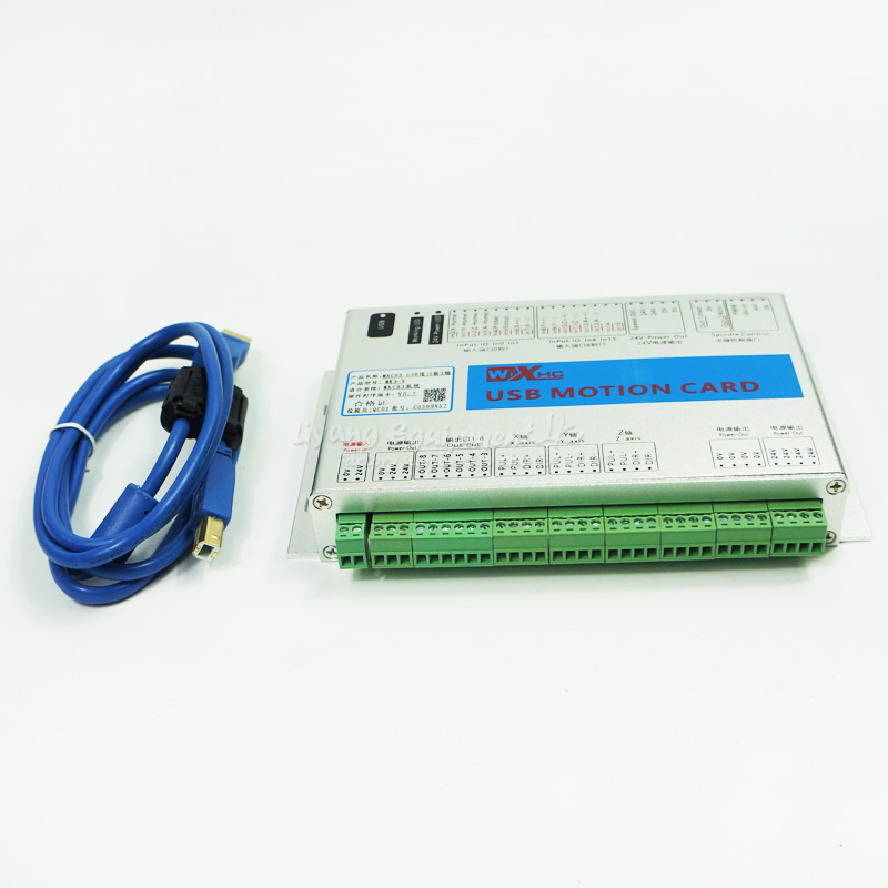 3 Axis USB CNC Motion Control Card, Mach3 Breakout Board free shipping xhc mk4 mach3 breakout board 6 axis usb motion control card 2mhz support windows 7 10