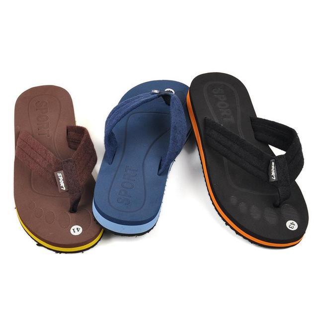 2014 New Summer Brand Men Casual Flat Sandals,Leisure Flip Flops, Fashion Beach Slipper Shoes For Men Big Size
