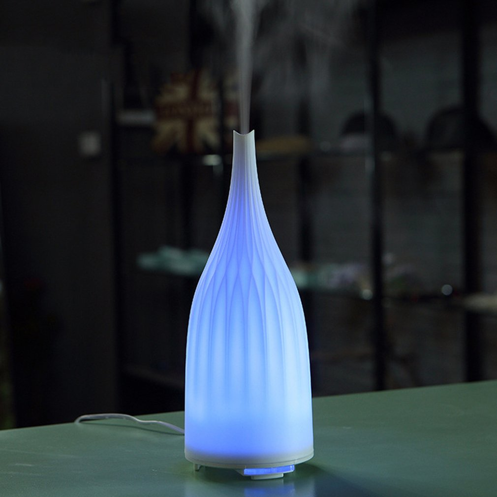 100ML Ultrasonic Humidifier Air Humidifiers for Home Aroma Essential Oil Diffuser Aromatherapy With Colorful LED Night Light hot sale humidifier aromatherapy essential oil 100 240v 100ml water capacity 20 30 square meters ultrasonic 12w 13 13 9 5cm