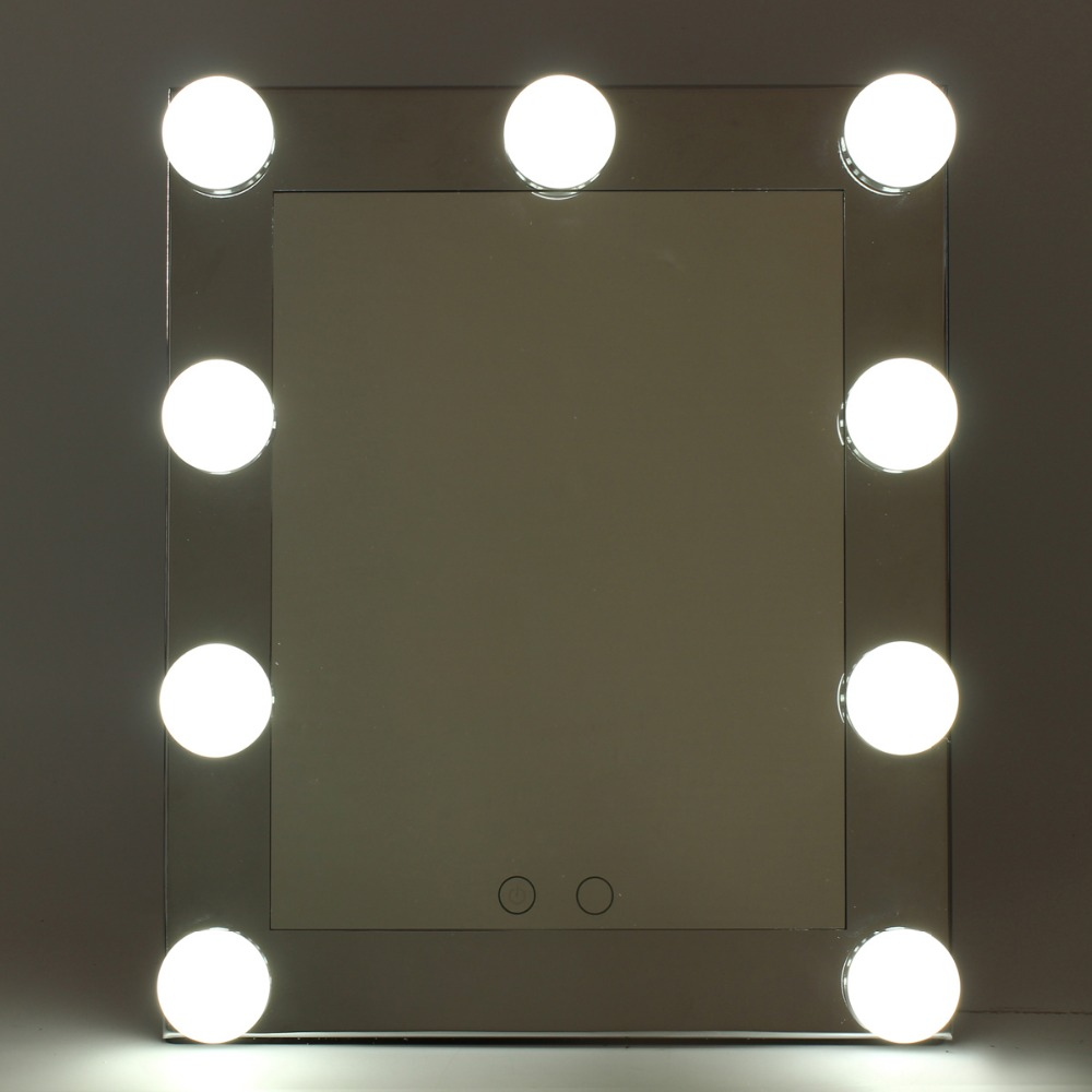 Professional LED Touch Screen Lighted Vanity Mirror Standing Table Mirrors Large Salon Cosmetic Desktop Makeup Mirror With Light jacques lemans jl 1 1845l