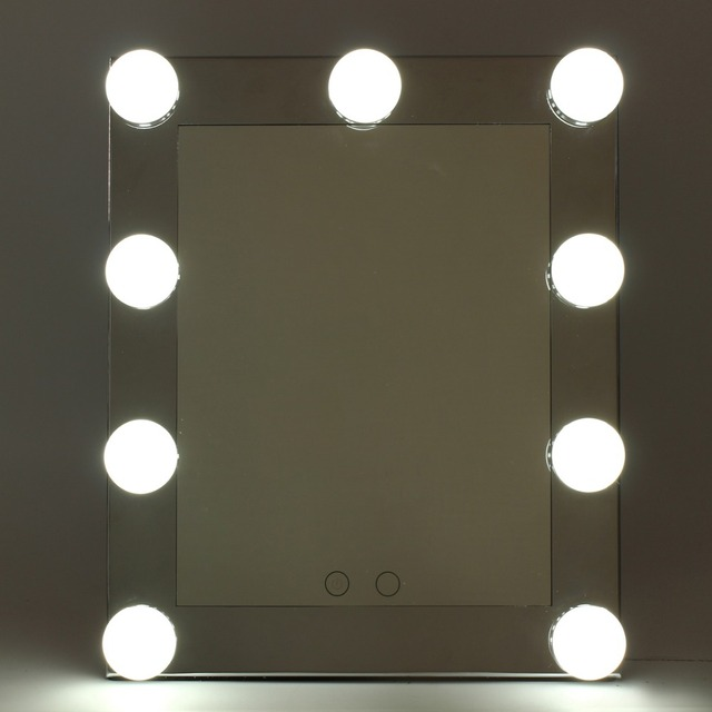 Professional LED Touch Screen Lighted Vanity Mirror Standing Table Mirrors  Large Salon Cosmetic Desktop Makeup Mirror