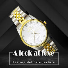 2019 Luxury Brand Free Crane Women Watch Gold Women Quartz Wristwatch Stainless Steel Business Lady's Dress Watch(China)