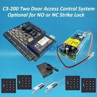 C3 200 Two Door Access Control Panel System Keyapd 125khz KR102E Rfid Reader Rfid Card Access