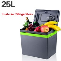 25L Car Home Portable Thermoelectric Fridge 12V 220V Cooler Box Warmer Dual Purpose High Capacity Travel