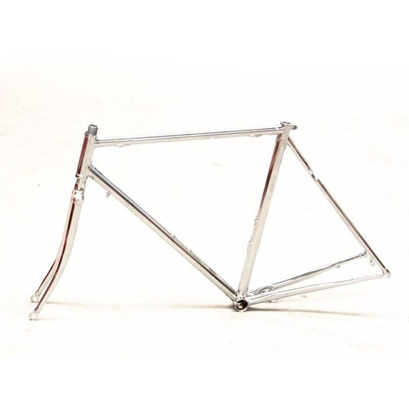 Acero cromado marco y tenedor vintage astilla Road Bike restauración ...