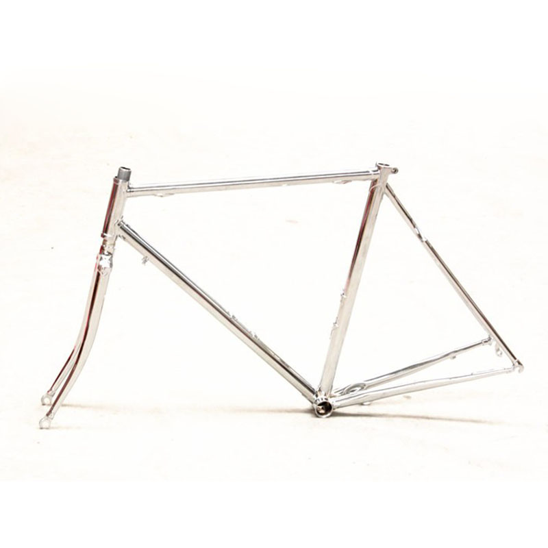 chromoly steel frame and fork vintage sliver road bike frame restoring Fixed Gear bicycle frame 700C frame 52cm 56cm цена и фото