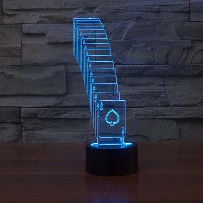 Folding Card Night Light Energy Saving Led Lamp Night Lighting 7 Color Changing Led Lights Indoor